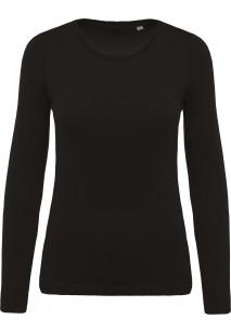 Ladies' organic cotton crew neck long-sleeved T-shirt
