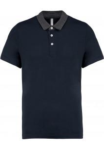Men's two-tone jersey polo shirt