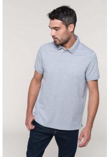 Men's short sleeve stud polo shirt