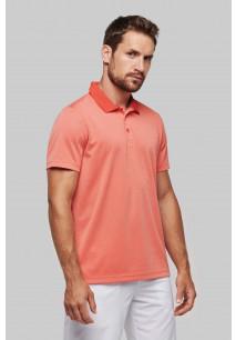 Adult short sleeve marl polo shirt