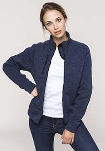 Ladies' full zip heather jacket