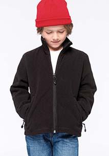 Kids' full zip fleece jacket