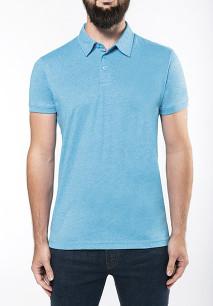 Men's short-sleeved melange polo shirt