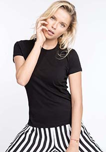 Maïa > Ladies' short-sleeved crew neck T-shirt