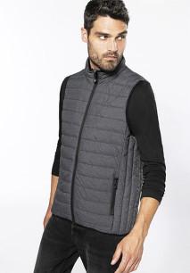 Men's lightweight sleeveless fake down jacket