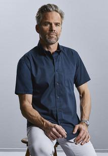 Men's Short-Sleeved Twill Shirt