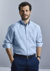 Men's Long-Sleeved Oxford Shirt