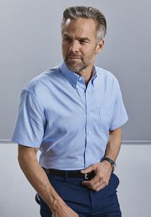 Short-Sleeved Men's Oxford Shirt