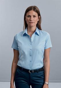 Ladies' Short-Sleeved Herringbone Shirt