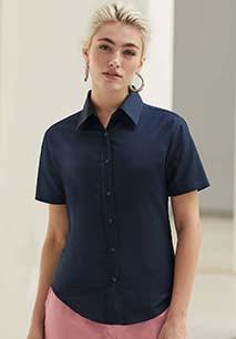 Ladies' Short-Sleeved Oxford Shirt (65-000-0)