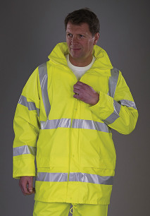 Hi-Vis Soft Flex Breathable Rain Trousers