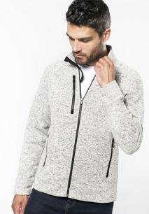 Men's full zip heather jacket