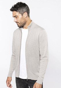 Men's full zipcardigan