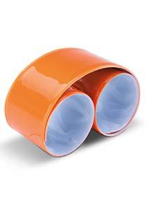 Reflective snap/slap bracelet