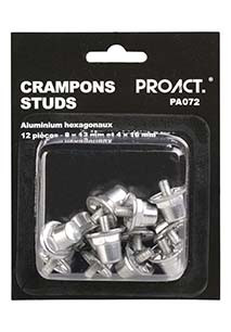 Box of 12 hexagonal aluminium studs