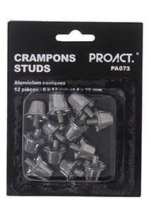 Pack of 12 conical aluminium studs