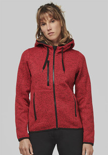 Ladies' heather hooded jacket
