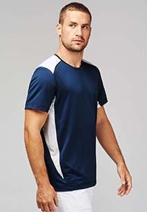 Two-tone sports T-shirt