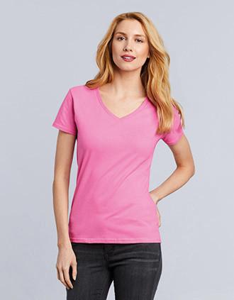 Ladies' Premium Cotton V-neck T-shirt