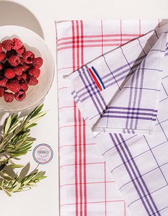 """Checked glass towel - """"Origine France Garantie"""""""