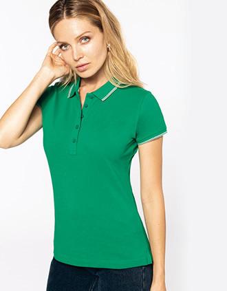 Ladies' short-sleeved polo shirt