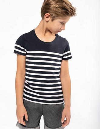 Kids' Organic crew neck sailor T-shirt