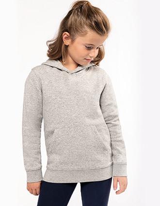 Kids' eco-friendly hooded sweatshirt