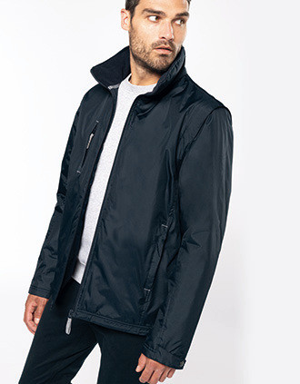 Score > Detachable-sleeved blouson jacket