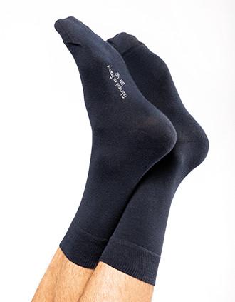 Mid-length dress socks in organic cotton