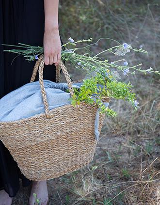 Hand-woven basket