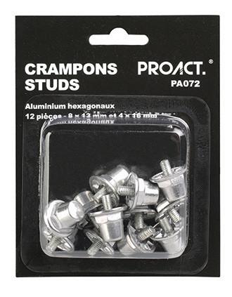 Box of 12 hexagonal aluminium studs
