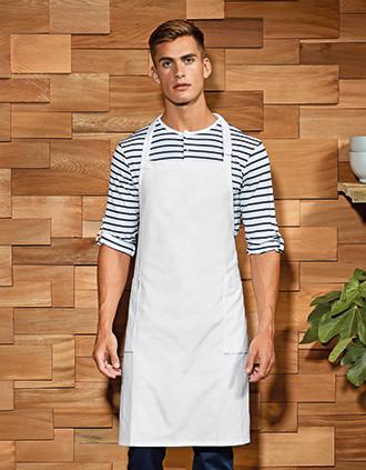 Recycled, organic bib apron