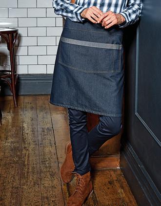 Denim domain waist apron