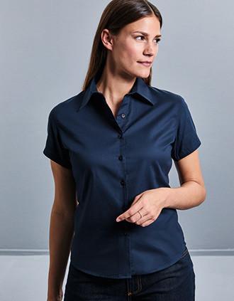 Ladies' Short-Sleeved Twill Shirt