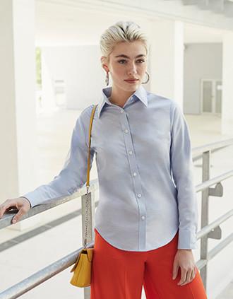 Ladies' Long-Sleeved Oxford Shirt (65-002-0)